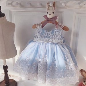 Spain Style Baby Dress Newborn Girls Tutu Dresses Flower Infant Princess Lace Party Dress Costume 2020 Children Clothes S07