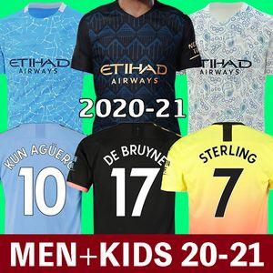 20 21 Manchester City Soccer Jersey 2020 2021 maglia da calcio 125 ° anniversario 125 KUN AGUERO DE BRUYNE GESUS BERNARDO MAHREZ SANE RODRIGO