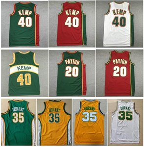 All'ingrosso Sport ricamo usura 20 Il guanto Gary Payton Bianco Rosso 40 Reign Man Shawn Kemp 34 Ray Allen Kevin Durant 35 Jersey ricamati