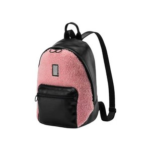Brand Backpack Women Fashion Faux Fur Backpacks School Bags For Teenagers Mini Soft Plush Shoulder Bags Velvet Bag Leisure Patchwork Style