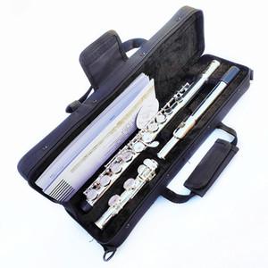 Japón YFL-471 Flauta Profesional cuproníquel Apertura C Clave con el caso y accesorios 16 Agujero flauta plateada plata de los instrumentos musicales