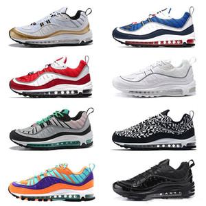 Nike Shoes 2020 رجل 98 الاحذية 98s OG السماء الزرقاء جاندام الثلاثي الصورة أسود أبيض المخروط جولة حيوية الرجال النساء الرياضة المدربين أحذية رياضية