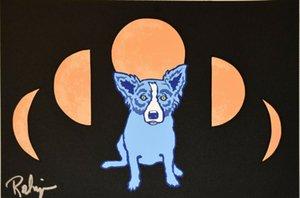 Джордж Rodrigue Синего Dog Home Decor расписанной HD картины Печать холст, масло Wall Art Pictures 200114