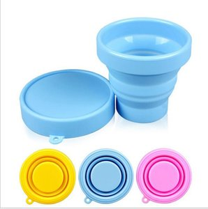 Portable Silicone Telescopic Collapsible Retractable Folding Cup Candy Outdoor Camping Travel Tableware foldable cup camping wine glass