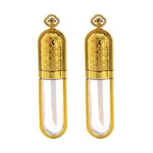 100 CVs Coroa De Ouro De Plástico Vazia de 5 ml Frasco de Maquilhagem compactas recarregáveis de 5 ml
