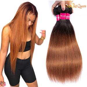 1b 30 peruviana vergine capelli lisci ombre diritte estensioni dei capelli umani economici fasci di tessuto peruviano dei capelli
