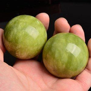 ABZB-2 piezas de mármol Jade Baoding chino Estrés Salud bolas del ejercicio para la relajación Terapia de alivio cuidado de las manos herramienta de entrenamiento Bolas