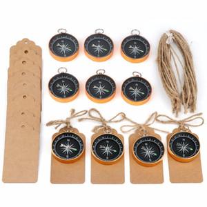 50 jogo lembranças de casamento para convidados Compass Tags Adesivos Favors viagem temático do partido para o aniversário de aniversário de criança