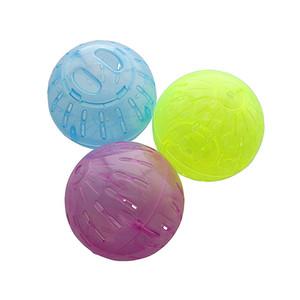 Hamster игрушки Диаметр 10см Running мяч Пластиковые Материал Красный и Синий Желтый Случайные доставки зоотоваров оптом