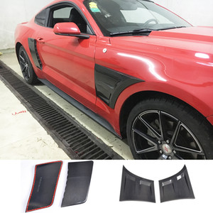Carbon Fiber Racing Car panneau latéral porte Kit Fender Corps de la Garde Boards Garniture Sticker Ford Mustang Coupé 2015-2017