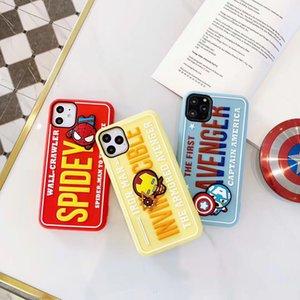 Comic superhero Designer phone cases iphone 11Pro 11 xsmax xs 8plus 8 7 6 plus 8 7 6 Silicone Phone case