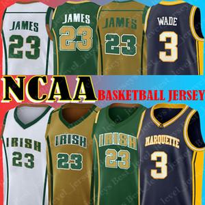 NCAA DWYANE 3 WADE Iserey Marquette College Lebron 23 Джеймс Сент-Винсент Высшая школа Джерси