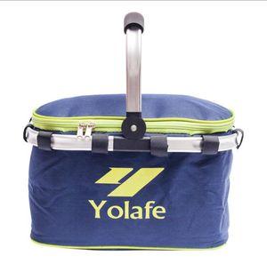 Toptan Alüminyum Folyo yalıtım çantası ile Açık Piknik İzotermik Çantalar 10L Oxford kumaş piknik sepeti