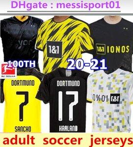 2020 21 Borussia Dortmund HAALAND REYNA 110th soccer jersey 20 21 HAZARD REUS PULISIC WITSEL Jersey PACO ALCACER football shirt MEN Thai