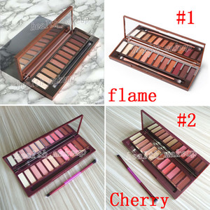 DHL Free Makeup Heat Palette Cherry 12 Colors Eye Shadow Matte Shimmer Eye Shadow with Free Making Up Brush Bronzers Blush Palette Cosmetics