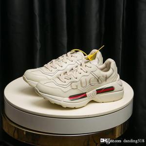 Homens Sneakers Moda Luxo Designer Mulheres Sapatos estilo clássico Superstar Rhyton couro sneaker botas de calçados do vintage de futebol de qualidade superior