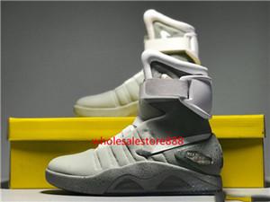 Bahar 2021 Sınırlı Sürüm AR Mag Geleceğe Dönüyor, Koyu Siyah Sneakers Marty McFly LED Ayakkabı Black Mag Marty McFlys Botlar