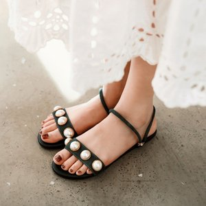 2020 pearl women fashion wild beach shoes нескользящие уличные тапочки сандалии с плоским дном женские тапочки повседневная одиночная обувь