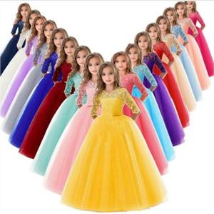 Los bebés de la ropa de los niños del desfile de los vestidos vestidos magníficos hinchada vestido de fiesta fiesta de la princesa vestidos formales pista de baile vestido de la túnica del traje C6933