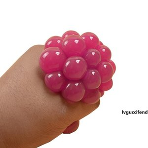 Cute Anti Stress Face Reliever Grape Ball Autism Mood Squeeze Relief Healthy Toy Vent Toy Extruded Discoloration Creative Gifts VT0104