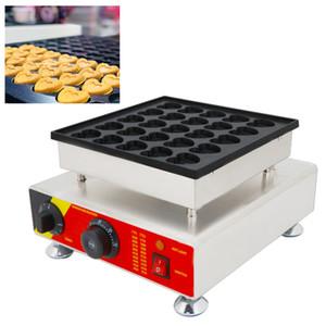 110 v 220 v Mini Hollandalı Gözleme Makinesi Elektrikli Kalp Şekilleri Poffertjes Makinesi Küçük Kabarcık Waffle Baker Demir Yapma ...
