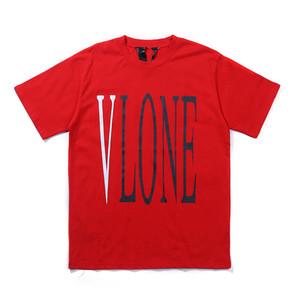 Vlone camiseta de alta calidad mujeres de los hombres de Hip Hop Streetwear la camiseta de la camisa camisetas Vlone esqueleto humano para hombre T estilista