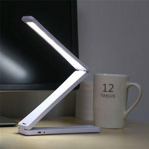 Mini 450 mah Capacidade de Dobramento Led Mesa de Leitura Lâmpada de Mesa Recarregável Ajustável Portátil Brilhante 17 Leds Livro Luz Q190601