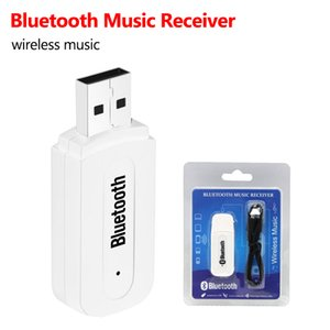 HOT USB Bluetooth 4.0 Stereo Music receiver Adapter Wireless Car Audio 3.5mm Bluetooth Receiver Dongle for cellphone With Retail Package