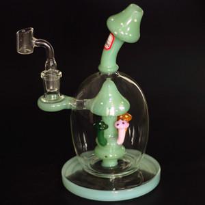 Новейшие пьянящие грибы стеклянный Бонг насадкой PERC стекло труба водопровода мяч стиль даб нефтяных вышек уникальные бонги 14mm совместное с фейерверками кварц