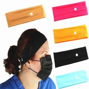 Pulsanti utili Fascia per capelli per le polveri Mask Prevent Ear lesioni multifunzione fascia elastica Headwear dei capelli della fascia titolare Maschera