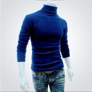 Otoño Hombres Suéter Hombre Marca Casual Suéter Hombres Color sólido Cómodo Hombre Navidad Suéter Cuello redondo Slim Fit pull homme