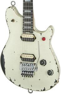 New Custom invecchiato Eddie Van Halen lupo chitarra Music Man Ernie Ball Axis epoca White Button Relic chitarra elettrica rossa del ponticello del Tremolo