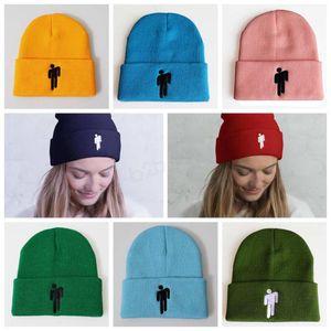 Billie Eilish Beanie зимы Вязаные шапки унисекс Sport Cap шерсти Дизайнер Шапочки Мужчины хип-хоп вышивка Hat LJJA2834
