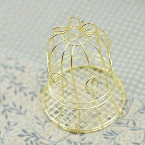 Unique Simple Golden Metal Bird Cage Birdcage Box Candy Boxes Wedding Events Christmas Valentine s Gift Favor ZA4933