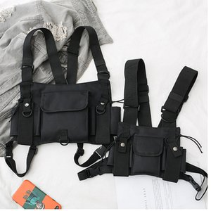 Funktionelle Tactical Kasten-Beutel für Männer Frauen arbeiten Einschuss Hip Hop Vest Street Bag Hüfttasche Airsoft CS Chest Rig Bag Getriebe T200521