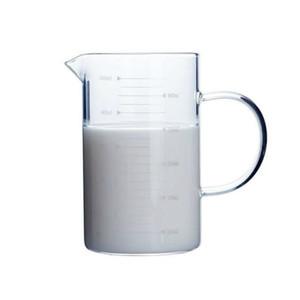 جديد كأس الزجاج كوب القهوة القدح كوب مع مقبض صنبور سطح المطبخ أداة لوازم البورسليكات الزجاج مختبر زجاجيات مسح الزجاج