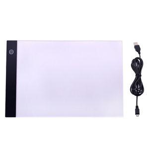 A4 Digitale Zeichnung Grafik Tablet LED Light Box Tracing Copy Board Gemälde Schreibtisch Dreistufige stufenlose Dimmen