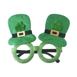 New Styles Party Glasses St. Patrick's Day Ireland Decoration Funny Green Beer Photo Props Festival Ornament Gift