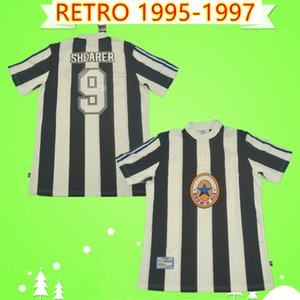 Newcastle United jersey Asprilla SHEARER BARNES HIZ GILLESPIE Retro 1995 1997 Birleşmiş futbol formaları 95 97 formalarını Vintage Camiseta ev Maillot