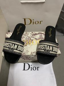 Nuevas damas clásico de la marca del diseñador de moda las sandalias tejidas vuelo ocasional zapatillas impresas con la caja de envío libre