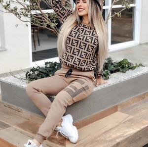 Mulheres 2 peça Conjuntos, Stripe retalhos sweatsuits manga comprida suéter Skinny calças compridas Treino Set, Grils executando Sets