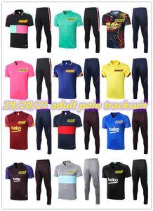 20 21 MESSI kısa kollu polo gömlek futbol antrenman takım elbise 2020 2021 COUTINHO SUAREZ O.DEMBELE PİKE futbol kısa eşofman