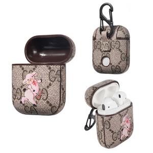 Una pieza de la caja del auricular para Apple AirPods cubierta de lujo airpods caso precioso cerdo rosa AirPod accesorios protección completa