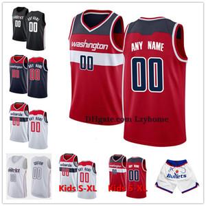 Özel Bradley 3 Beal Rui 8 Hachimura WashingtonSihirbazlar Şort John 2 Duvar Davis 42 Bertans Özelleştirilmiş Basketbol Formalar