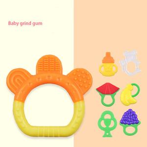 Silicone Banana bébé Teether fruits Molar bâton Silicona sécurité alimentaire Bite Teething Tétines Silicone Gel Toys 7 couleurs