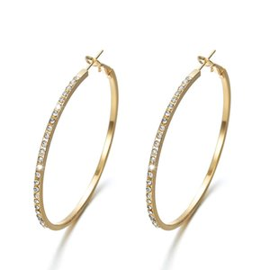 2019 New Fashion Hoop Earrings Simple Earrings Creative Diamond Alloy EarringsEarrings Women Jewelry Korean Stud Earrings