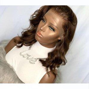 Short Bob Dark Brown Color Lace Front Human Hair Wig Bob Natural Hairline Glueless Soft Hair Wig Small Average Cap Baby