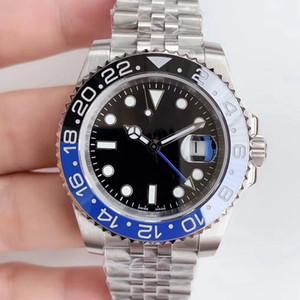 Hot ventes GMT céramique Lunette de luxe Montre automatique Reloj Maître mécanique Jubilé Bracelet Montres-bracelets