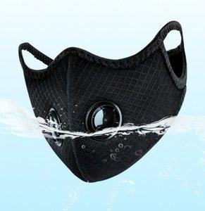 Оптовая Регулируемая Открытый Спорт Дыхание против загрязнения сетки пыли - доказательство Велоспорт маска с двойной Valve Многоразовые велосипед ушной маски колпачком