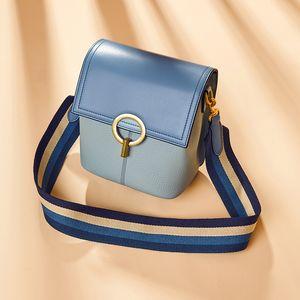 Bag female 2020 new leather bucket bag fashion female broadband crossbody shoulder